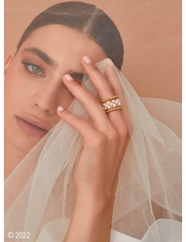 """Gold-filled pearl ring """"La..."""