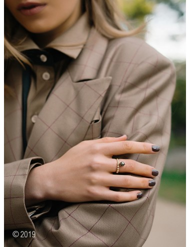 Gold-filled pyrite ring...