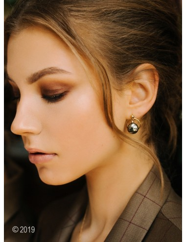 Gold-filled pyrite earrings...