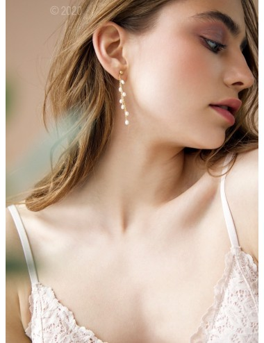 Gold-filled pearl earrings...