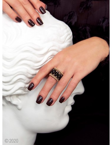 Gold-filled black onyx...