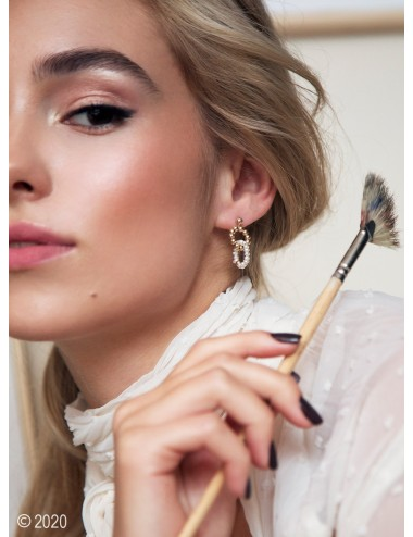 Gold-filled pearl earrings...