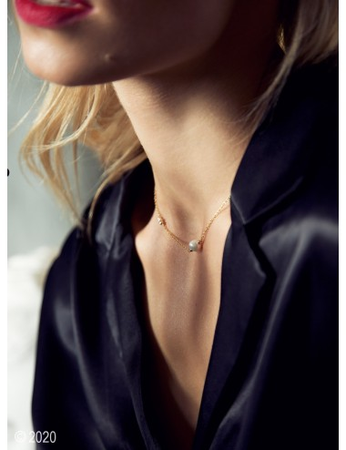 Gold-filled pearl necklace...
