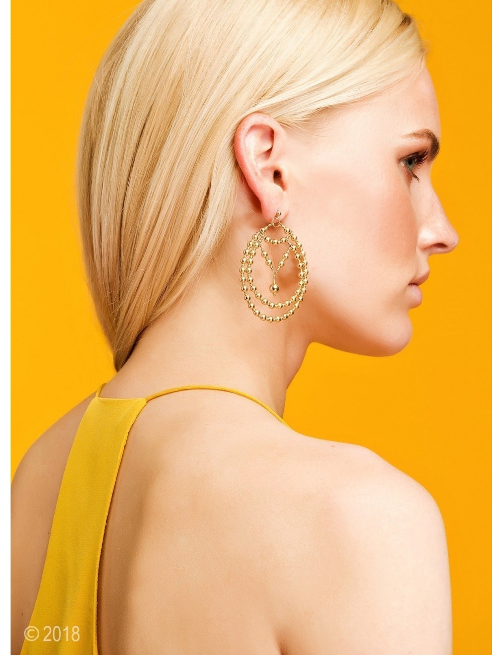 Gold-filled drop earrings